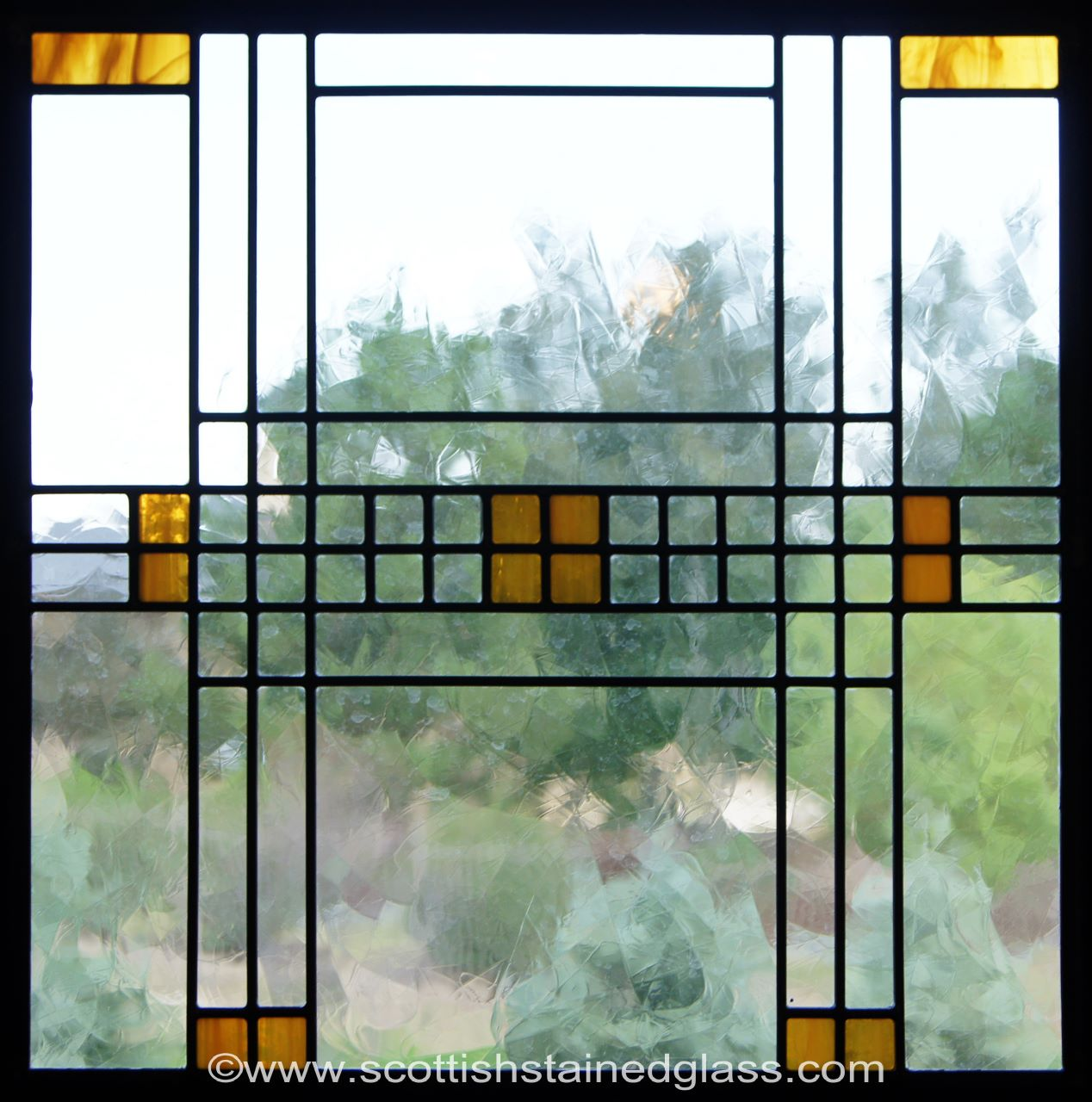 Frank lloyd wright stained glass houston stained glass for Glass window design home